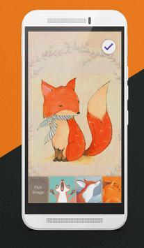 Orange Foxes Lock Screen apk screenshot