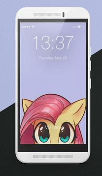 Pony Little Cute Arts Wallpapers Lock Screen poster