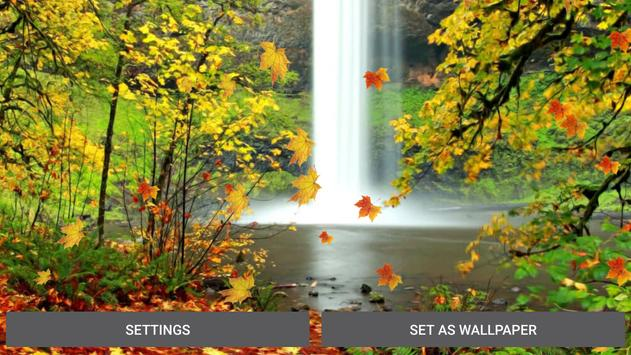 Autumn Waterfall Wallpaper apk screenshot