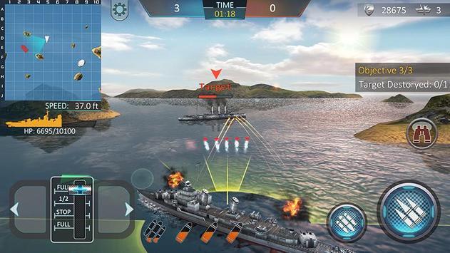 Атака военных кораблей 3D скриншот приложения