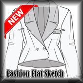 Fashion Flat Sketch 2017 icon