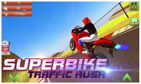 Super Bike Traffic Rush poster