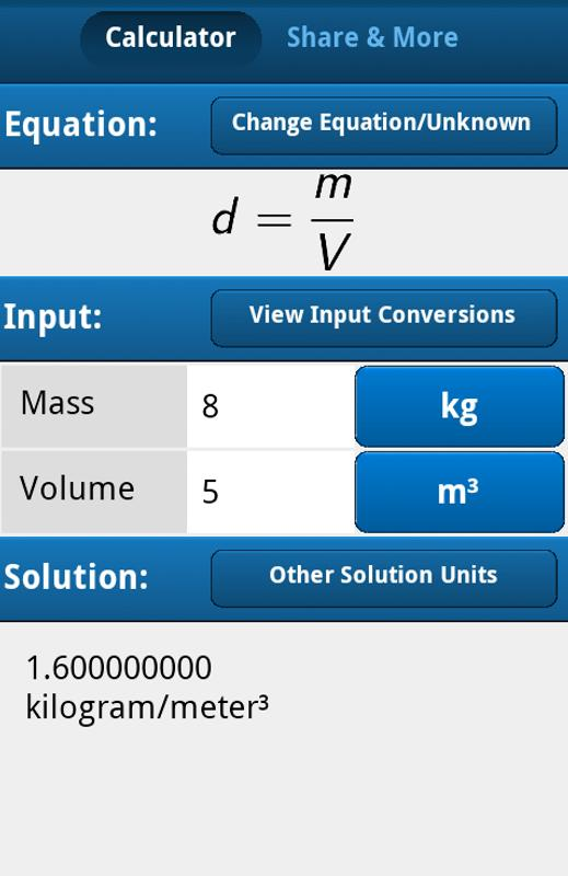 Density Equation Calculator APK Download - Free Education APP for ...