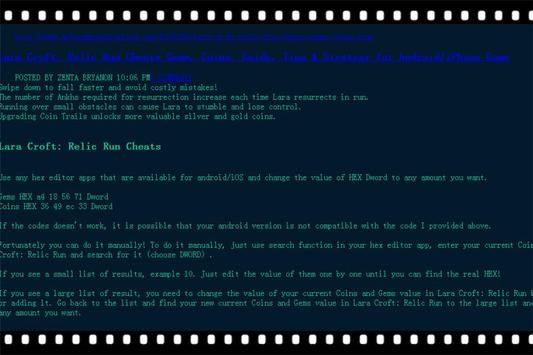 Guide Lara relic run Tips apk screenshot