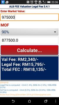 LKC ALB Valuation Legal Fee poster