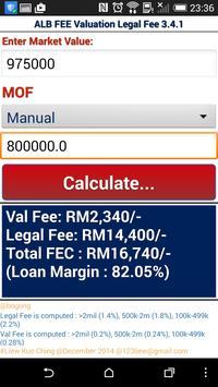 LKC ALB Valuation Legal Fee screenshot 1