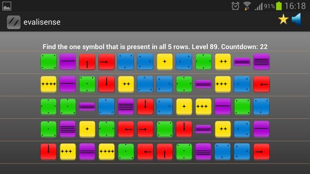 Evalisense: best brain game apk screenshot