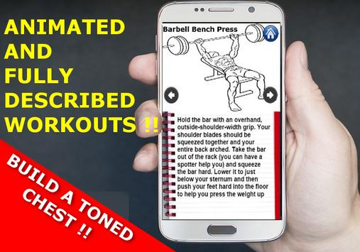 CHEST Workout For Men at Home and Gym : Free screenshot 1