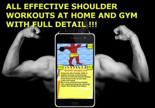 Big Muscles Shoulder Workout For Men FREE Poster
