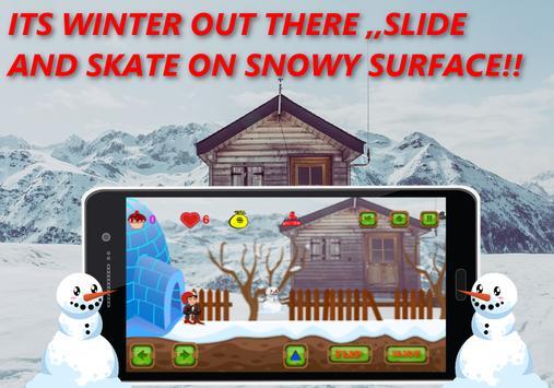 Shivaa Snow Skating Boy :Free apk screenshot