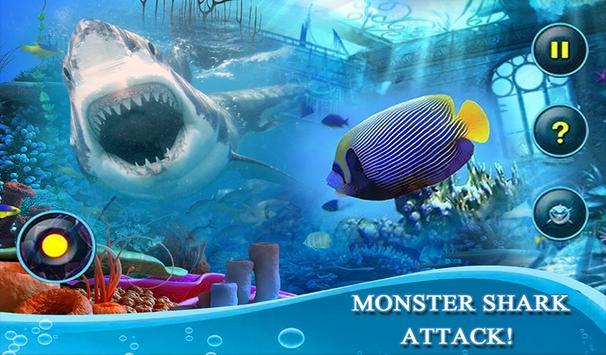 Monster White Shark Revenge 3D screenshot 8