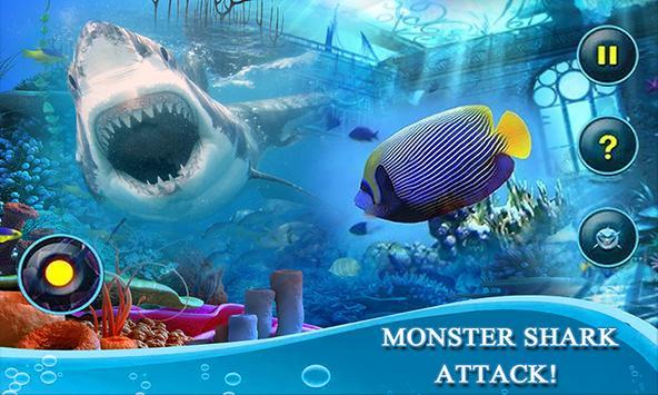 Monster White Shark Revenge 3D screenshot 2