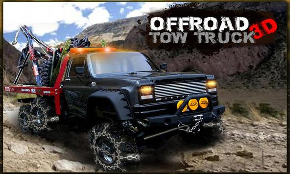Offroad Tow Truck 3D poster