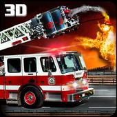 Modern Fire Driver Truck 3D icon