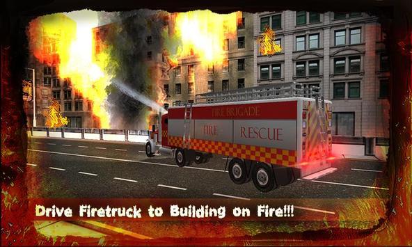 Modern Fire Driver Truck 3D poster