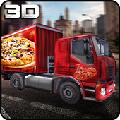 Pizza Delivery Truck 3D icon
