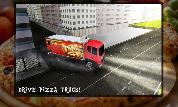Pizza Delivery Truck 3D poster