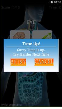 HUMAN BODY QUIZ apk screenshot