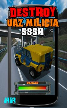 Destroy UAZ Milicia USSR screenshot 12