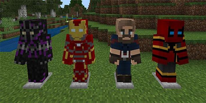 MOD Avengers Infinity War Addon MCPE poster