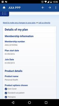 AXA PPP Screenshot 2