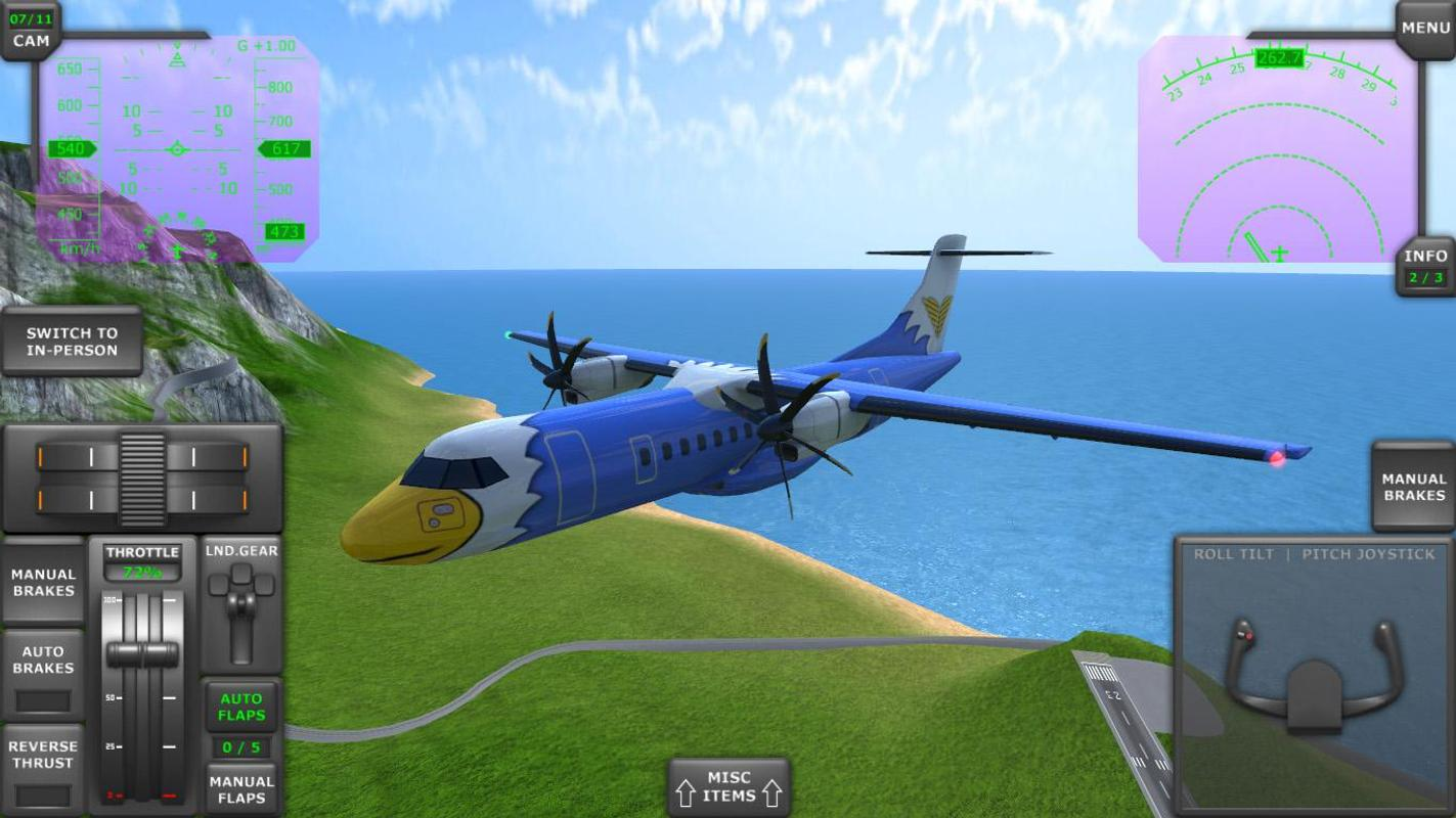 Turboprop flight simulator 3d apk download darmowe for Simulatore 3d