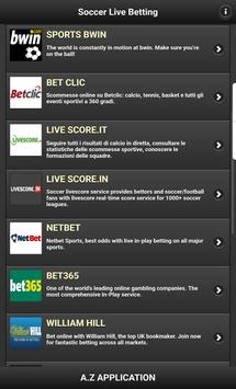 Soccer Live Betting screenshot 2
