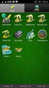 Pocket Expense Manager And Tracker screenshot 1
