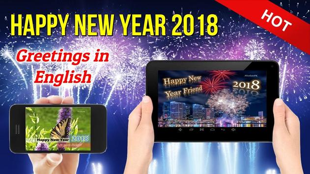 Happy New Year Wishes Greetings Cards 2018 poster