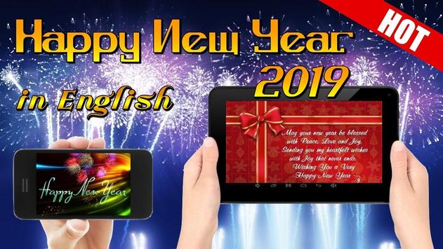 Happy New Year Wishes Greetings Cards 2019 poster