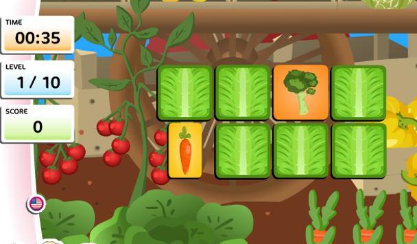 เกมส์จับคู่ผัก apk screenshot
