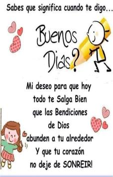 Frases Cristinanas de Buenos Dias poster
