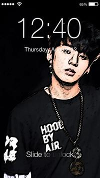Jungkook  BTS PIN Lock Screen poster