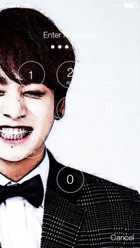 Jungkook  BTS PIN Lock Screen screenshot 1