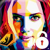 Scarlet Johansson Lock icon