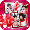 Best I Love You Romantic Photo Collage