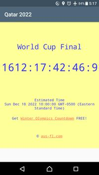 2022 World Cup Countdown poster