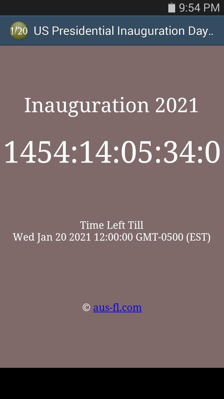 Us Presidential Inauguration 2021 Countdown For Android Apk Download