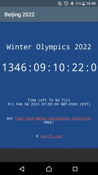 2022 Winter Olympics Countdown poster