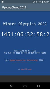 2022 Winter Olympics Countdown screenshot 1