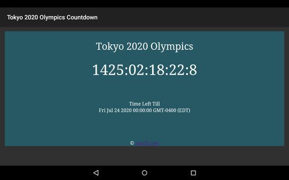 2020 Summer Olympics Countdown apk screenshot