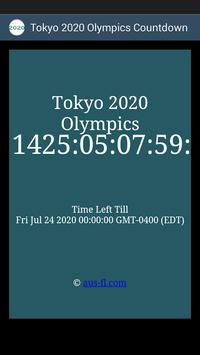 2020 Summer Olympics Countdown poster