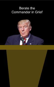 Commander in Grief: Mr. Trump poster