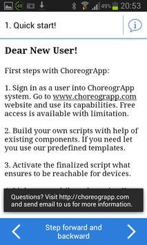 ChoreogrApp - Data Collection apk screenshot
