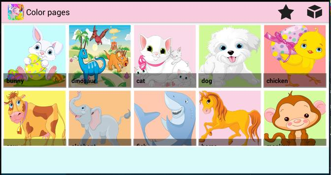 Color Pages - Coloring Animals poster