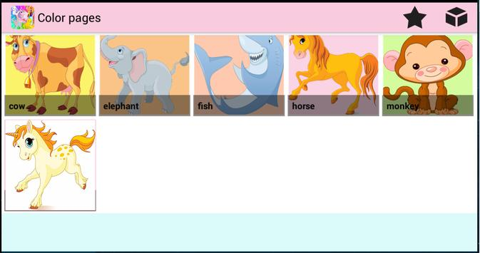 Color Pages - Coloring Animals screenshot 2