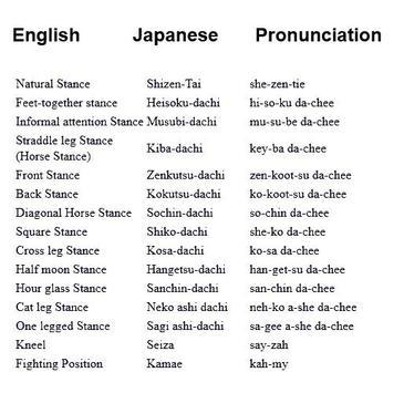 Karate Terminology screenshot 1