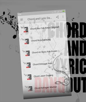 Chord and Lyric Dangdut poster