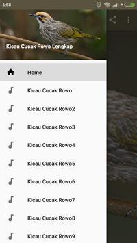Kicau Cucak Rowo Lengkap apk screenshot