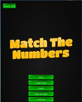 Match The Numbers poster